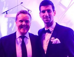 Olly Smith and Novak Djokovic