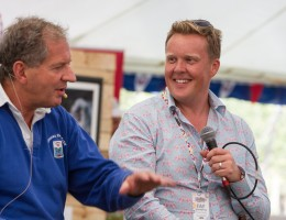 Olly Smith Interviewing Jody Scheckter regarding the Ale and Lager